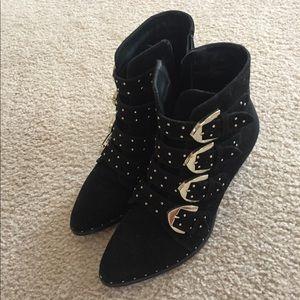 Shoes - Studded black boho booties